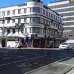 View of hotel from down street
