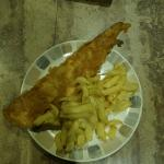 large cod & chips (takeaway)