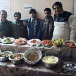 Owner Sunil Kumar and staff