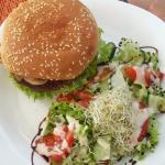 Veggie Burger + Salad