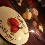 Beautifully decorated and served dessert platter!!!