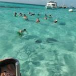 Stingray City - notice crowd of boats in background!