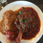 Lamb Shank Ossobuco, 1 cannelloni and 1 meatball