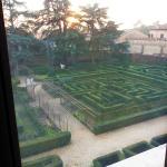 vista del jardin al piso superior