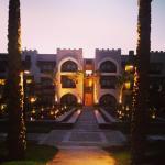 Hotelgebäude am Abend