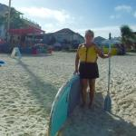 Murphy's Water Sports (yellow hut in back of me - rentals of lounge chairs, paddle board, kayaks
