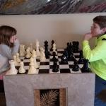Big chess match in the lobby