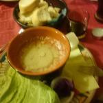 bagna cauda con panna e poco aglio