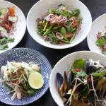 Mixed selection of Thai dishes