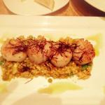 "Pan Seared Scallops with a Cauliflower ""Risotto"""