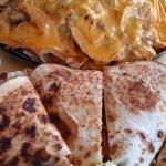 Pile High Nachos & Chicken Quesadillas