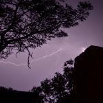 Lots of lightning but little rain!