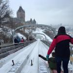 Toboggan Run looking towards Le Chateau Frontenac