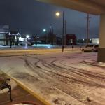 snowy parking lot