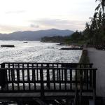 Man-made beach area
