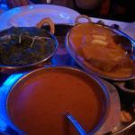 Lamm Gericht und Mango Fish
