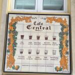 Menu - Cafe Central Photo