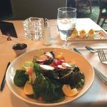 Garden salad with attractively arranged tasty produce