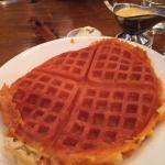 Waffle Mac n cheese