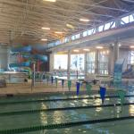 Overview of the pool as seed from next to our 5-lane lap pool