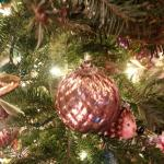mauve ornament