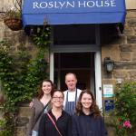 Saying farewell to Roslyn House - photo with Bob, taken by Judith