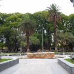 Fuente central en la plaza