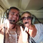 On the helicoeter in Antigua