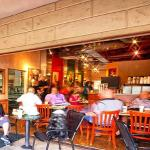 One of 3 large patios at Hava Java