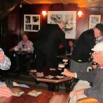 Group enjoying their Guinness