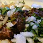 Soft tacos, pork and chicken, tilapia tacos, nachos