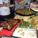 Paella, lechon, etc