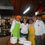 Los cheffs excelentes y muy simpáticos