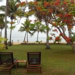 View from front door beachfront bure