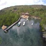 Drone view of our Dive resort