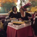 Our L'Entrecote servers hamming it up