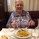 Mom having her first L'Entrecote meal Dec 38