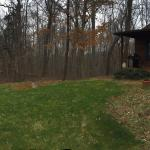 Panoramic view of the front side of Sunset Cottage