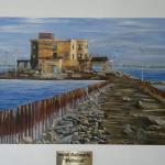 El cuadro se encuentra en el living, hace referencia a una época maravillosa de Melincué .
