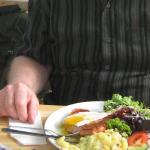 Hearty Bauernschnitzel at Goldene Gans