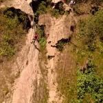 Rapel de 50 mt en Minas Viejas