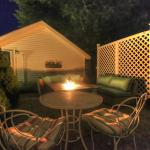 Fire Pit Lounge on a Summer night.