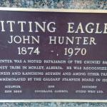 Sitting Eagle statue