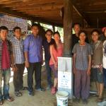 The team: Mr Horm Honn, Mr Bo, with us after the final water filter installation