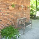 Rustic verandah seating