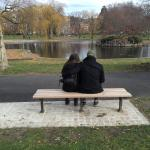 The picture Ben took of us at the Good Will Hunting bench.