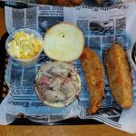 Pulled Pork BBQ Sandwich  & sides