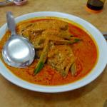 Delicious fish head curry. A must try dish