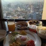 朝食会場からの眺め(晴れ)