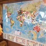 Tous les clients venant d'un pays étranger mettent une punaise sur notre carte du monde